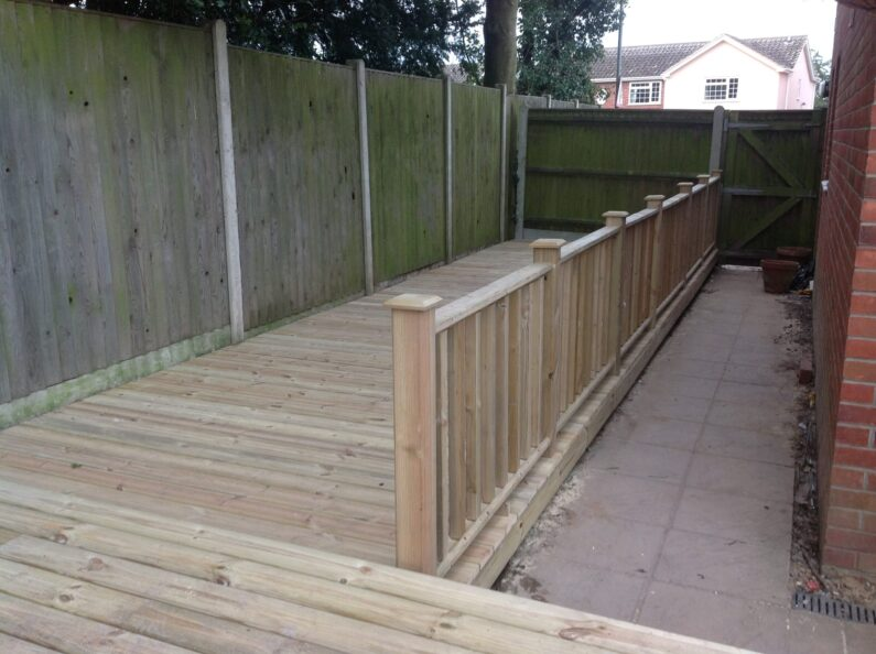 Timber and composite decking installers Norwich Norfolk.