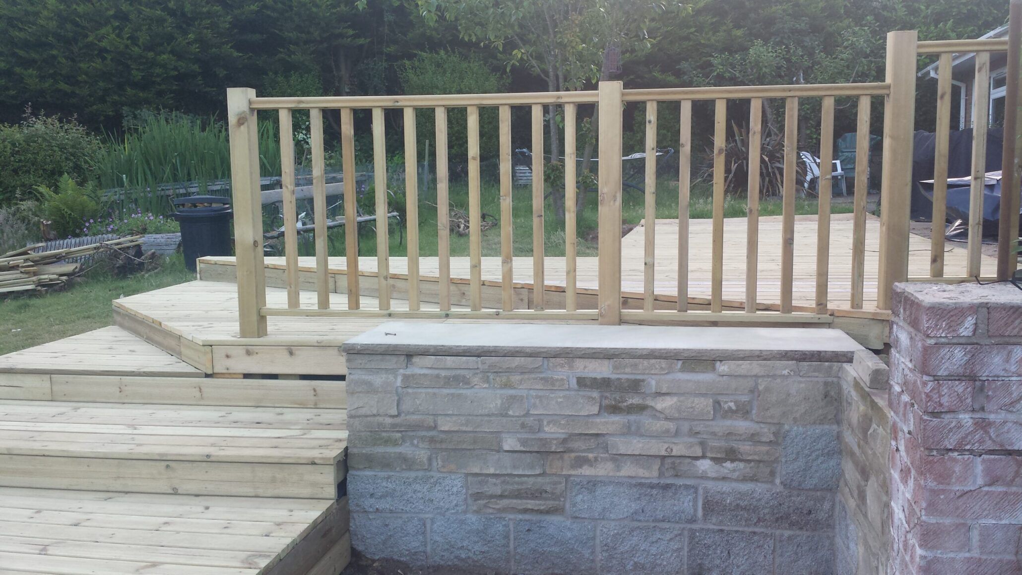 brick bbq from Norwich decking co